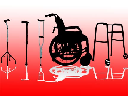 Metairie injury victims might be forced to use wheelchairs, crutches, and mobility aids like these after being invovled in an accident. Contact a Louisiana personal injury in the Greater Metairie area today to represent  you.