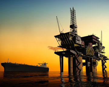 This image depicts an oil rig like one of the many rigs along the Gulf Coast of Louisiana, Florida, Alabama, Mississippi, and Texas. Unfortunately, many oil rig workers are injured or killed every year. Contact a Metairie Personal Injury Lawyer or Metairie Wrongful Death Lawyer today to discuss your rights.